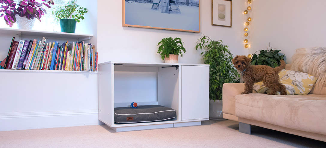 The subtle yet stunning design of the Omlet Fido Nook complements both modern and traditional interiors