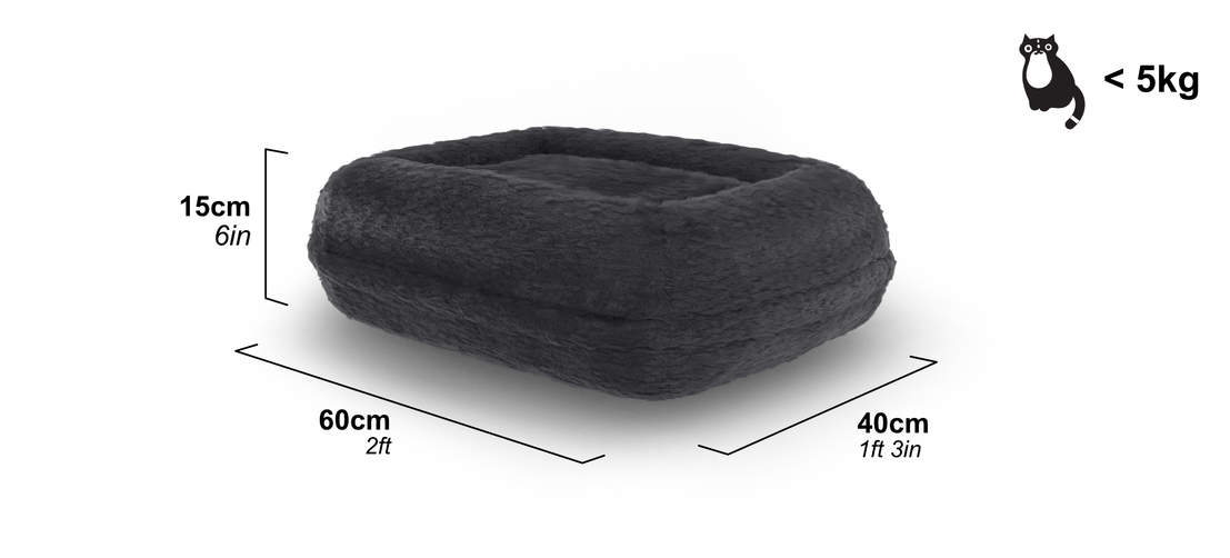 The donut cat bed is suitable for all cats and kittens up to 5kg.