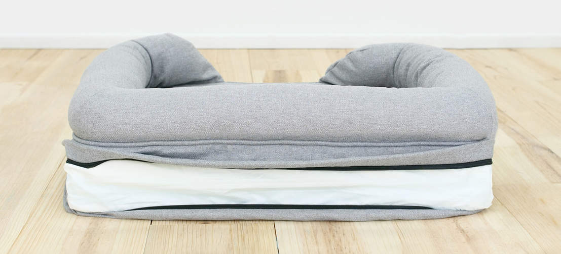 The Bolster Beds are super easy to keep clean and hygienic, just zip off the cover and put it in the washing machine.