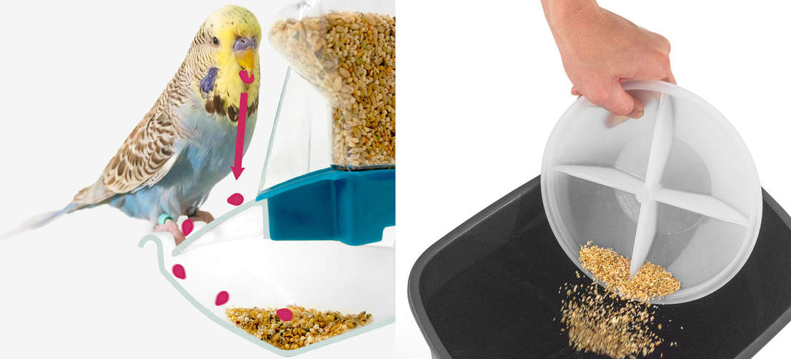 Intelligently engineered to catch and contain any spilled husks and seeds, the Geo feeder keeps your home clean