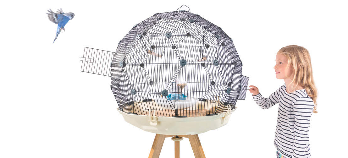 Two doors come as standard with every Geo Budgie Cage, you can position them wherever you like on the geodesic dome