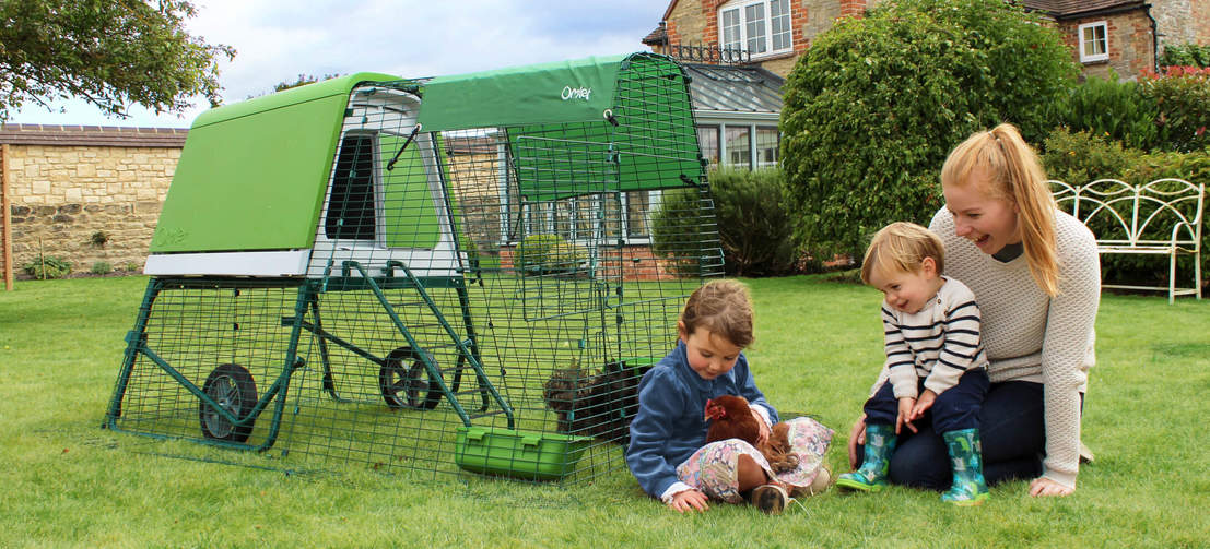 The perfect starter chicken coop for a small flock of hens, with easy clean surfaces and a secure, extendable run.