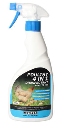 Poultry 4 in 1 Disinfectant - 500ml