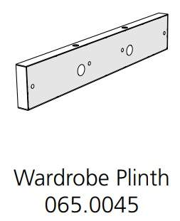 Fido Studio Wardrobe Plinth Assembly White (065.0045.0001)