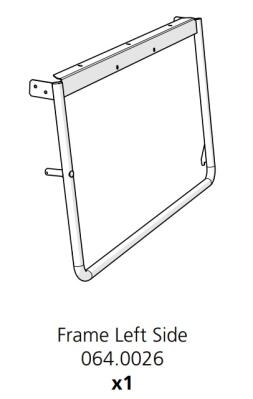Cube Mk2 Frame Side Left Assembly (064.0026)