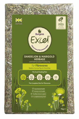 Burgess Excel Timothy Hay with Dandelion and Marigold Herbage 1kg