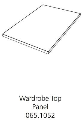 Fido Studio Wardrobe Timber Panel Top 24 White (065.1052.0001)