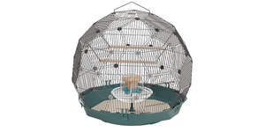 Geo Bird Cage - Teal and Black