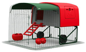 Eglu Cube Mk1 Chicken Coop with 2m Run Package - Red