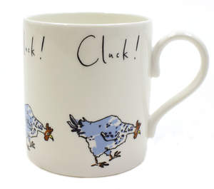 Clucking Chicken Design China Mug