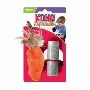 Kong Dr Noys Catnip Toy Feather Top Carrot