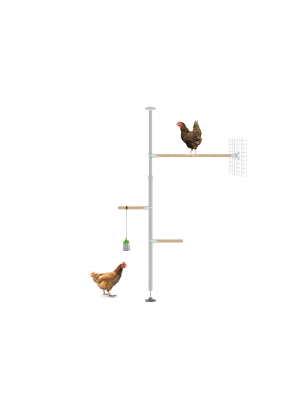 PoleTree Chicken Perch - The Eggcercise Kit - 1.70 - 2.15m