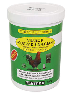 Nettex Viratec-P Poultry Disinfectant - 500g - Makes up to 50 litres