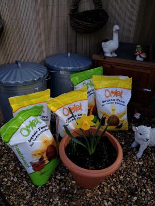 Happy Hens now further feed stock has arrived.