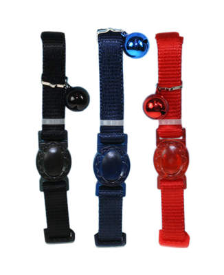 Plain Nylon Cat Collar - Assorted Colours