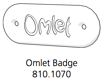 Indoor Omlet Badge White (810.1070.0001)