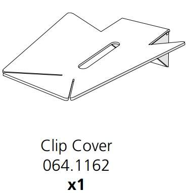 Droppings Tray Clip Cover Bracket (064.1162)