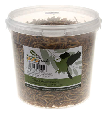 Nature's Grub gedroogde meelwormen - 400g