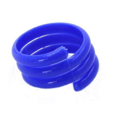 Spiral Leg Ring - 16mm Blue - Single