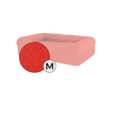 Bolster Dog Bed Cover Only - Medium - Cherry Red