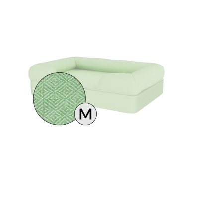 Bolster Dog Bed Cover Only - Medium - Matcha Green