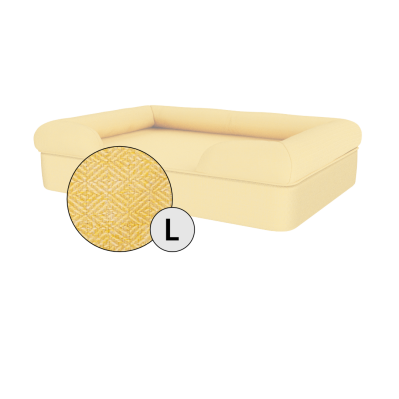 Bolster Dog Bed Cover Only - Large - Mellow Yellow
