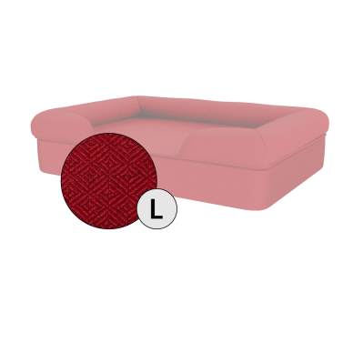 Bolster Dog Bed Cover Only - Large - Merlot Red