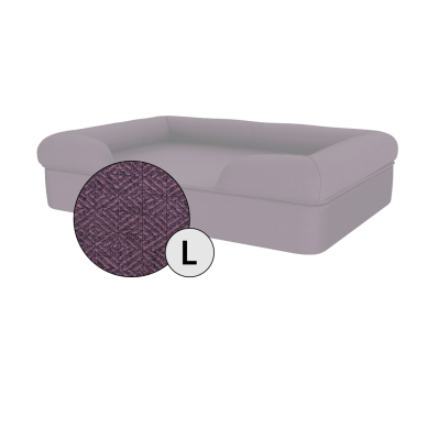 Bolster Dog Bed Cover Only - Large - Plum Purple