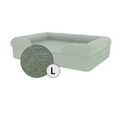 Bolster Dog Bed Cover Only - Large - Sage Green