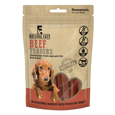 Natural Eats Dog Treats - Beef Tender Strips 80g