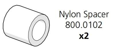 Go UP Nylon Spacer OD20 x ID13 x L20 (800.0102)
