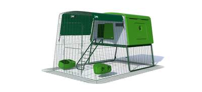 Large Chicken Coop Eglu Cube Mk2 with 2m Run Package - Leaf Green