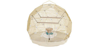 Boxed Cage Budgie Cream - Gold