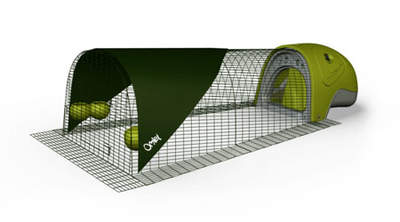 Eglu Duck House with 2m Run - Green