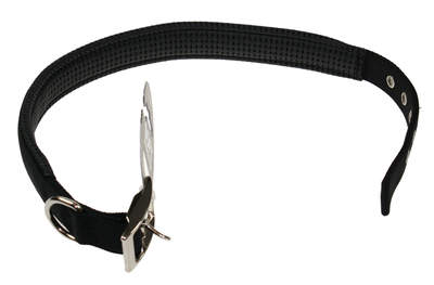 Black Dog Collar - 22""