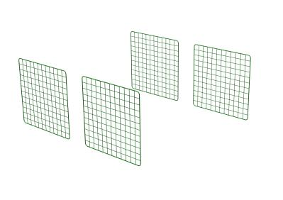 GRADE B - Single Height Zippi Extension Panels - Pack of 4