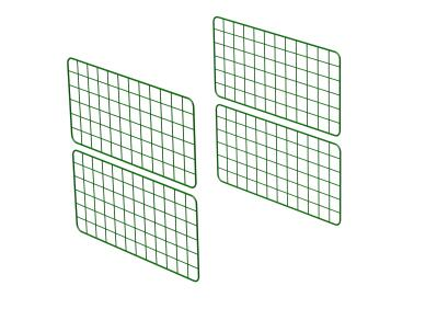 Zippi Guinea Pig Run Extension Panels - Half Height - Pack of 4