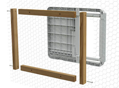 Autodoor Attachment Kit for Traditional Chicken Mesh