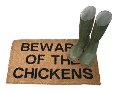 Beware of the Chickens Doormat