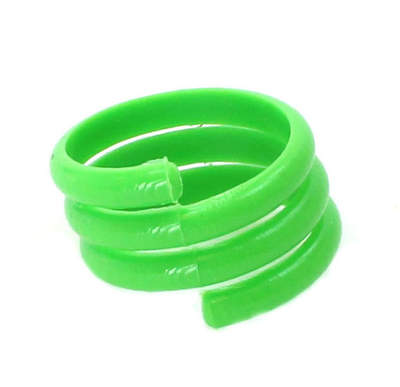Spiral Leg Ring - 16mm Green - Single