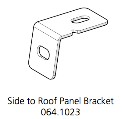 Cube Mk2 Bracket Side Panel to Roof (064.1023)
