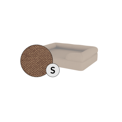 Bolster Dog Bed Cover Only - Small - Mocha Brown