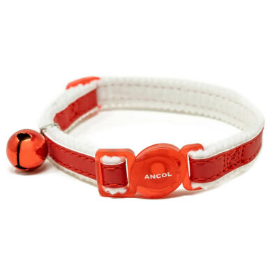 Reflective Safety Buckle Cat Collar - Red