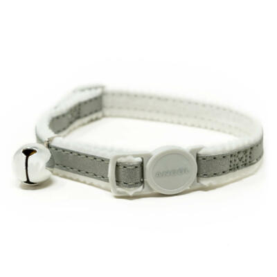 Reflective Safety Buckle Cat Collar - Silver