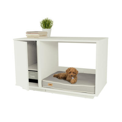 Fido Nook 24 Dog House with Wardrobe - White