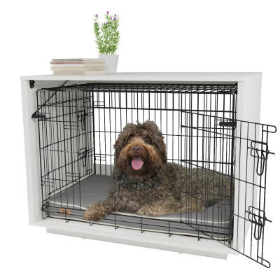 Fido Nook 36 Dog House with Crate - White