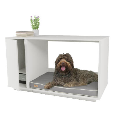 Fido Nook 36 Dog House with Wardrobe - White