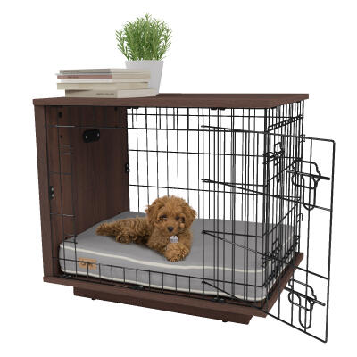 Fido Studio 24 Dog Crate - Walnut