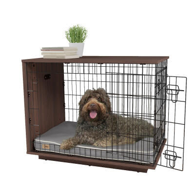 Fido Studio 36 Dog Crate - Walnut