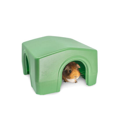 Zippi Boxed Guinea Pig Shelter Green (079.0045.0001)